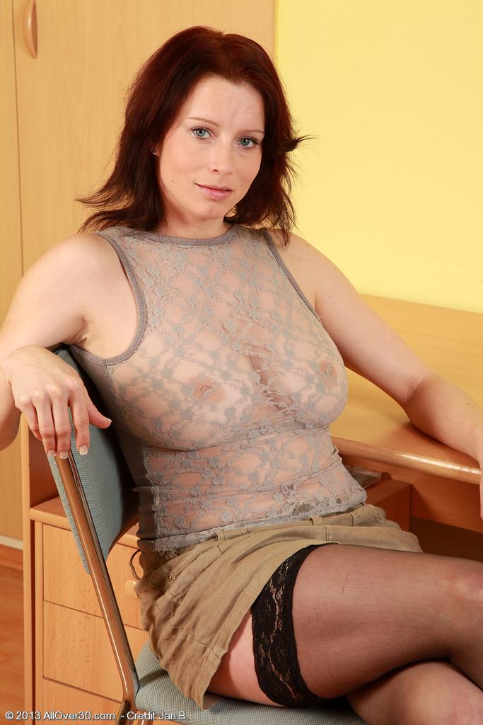 Сольная мастурбация дамы с огромной грудью